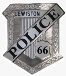 Lewiston Maine Police Department Badge 66 - Officer David R. Payne